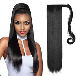 SHEDOWIG Ponytail Extension Wrap Around Long Straight Clip in Ponytails Hair Extensions for Women...   Amazon (US)