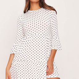 White Polka Dot Tiered Frill Dress | ISAWITFIRST