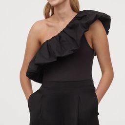 Flounced one-shoulder body | H&M (UK, IE, MY, IN, SG, PH, TW, HK)
