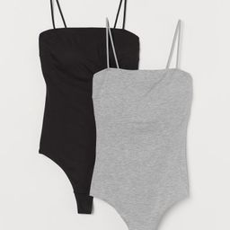 2-pack cotton-blend bodysuits | H&M (UK, IE, MY, IN, SG, PH, TW, HK)