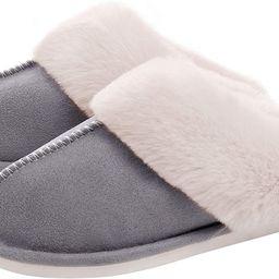 WATMAID Women's House Slippers Memory Foam Fluffy Soft Slippers, Slip on Winter Warm Shoes for Wo... | Amazon (US)