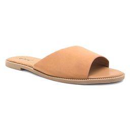Qupid Women's Sandals TAN - Tan Desmond Slide - Women | Zulily