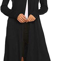 Women Plus Size Long Open Front Drape Maxi Cardigan Lightweight Duster Long Sleeve Cardigan Fall ... | Amazon (US)