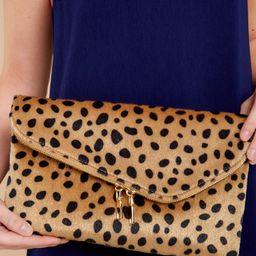 No New Tricks Cheetah Clutch   Red Dress