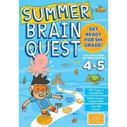 Summer Brain Quest : Between Grades 4 & 5 (Paperback)   Target