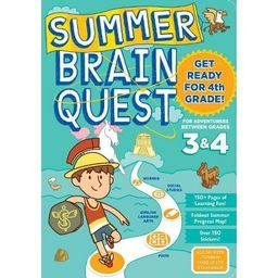 Summer Brain Quest : Between Grades 3 & 4 (Paperback)   Target