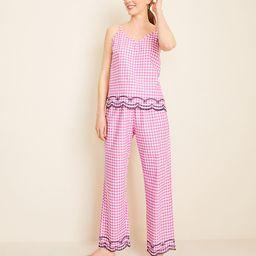 Gingham Eyelet Pajama Set | Ann Taylor (US)
