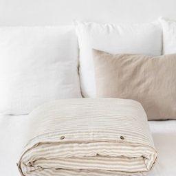 Natural Striped linen duvet cover. King, Queen, custom sizes. Soft linen bedding. Linen duvet in ... | Etsy (CAD)