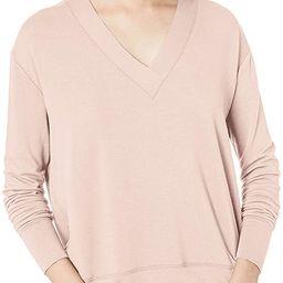 Amazon Brand - Daily Ritual Women's Supersoft Terry Long-Sleeve Deep V-Neck Shirt | Amazon (US)