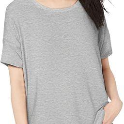 Amazon Brand - Daily Ritual Women's Jersey Rib Trim Drop-Shoulder Short-Sleeve Scoop-Neck Shirt | Amazon (US)