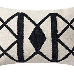 "Loloi Poly Set Black/Ivory Decorative Accent Pillow, 13"" x 21"" Cover   Amazon (US)"