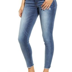 Luxe Touch Fray Hem Ankle Skinny Jeans | Nordstrom