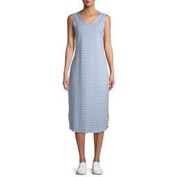 Time and Tru Women's Sleeveless Knit Midi Dress | Walmart (US)