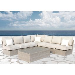 Chelsea Grey Wicker 8-piece Patio Sectional Outdoor Furniture Sofa Set Set by Living Source Internat | Overstock