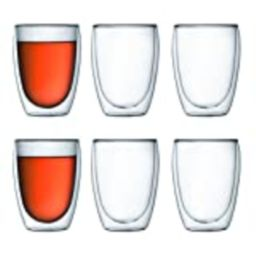 Bodum Pavina Double Wall Insulated Glasses, 12 Oz. (6-Pack), Clear   Amazon (US)