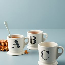 Monogram Mug By Anthropologie in Assorted Size 15   Anthropologie (US)