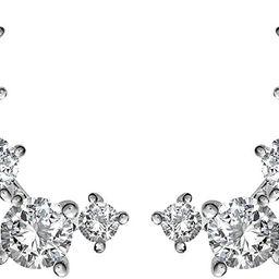 PAVOI 14K Gold Plated Cubic Zirconia Ear Crawler | Cuff Earrings | Hypoallergenic Stud Ear Climbe... | Amazon (US)