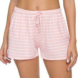 ROSYLINE Elastic Waist Shorts for Women Lounge Short Pajamas Sleep Bottoms with Pocket   Amazon (US)
