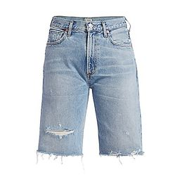 Citizens of Humanity Women's Libby Relaxed Distressed Denim Shorts - Seventeen Light Vintage Blue -  | Saks Fifth Avenue