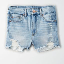 AE Curvy High-Waisted Short Short Women's Destroy Your Blues 6   American Eagle Outfitters (US & CA)