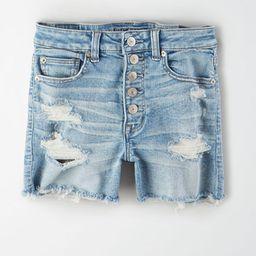 AE Ne(x)t Level Super High-Waisted Denim Short Short Women's Acid Wash 24   American Eagle Outfitters (US & CA)