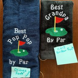 Personalized Golf towel, golf towel, golf gift, monogram towel, embroidered towel, choice of 2 si...   Etsy (US)