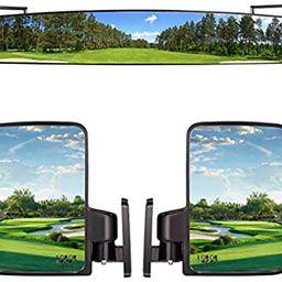 "10L0L 3 Piece Golf Cart View Mirrors Set, 16.5"" Wide Rear View Mirrors and 2 Side View Mirrors ...   Amazon (US)"