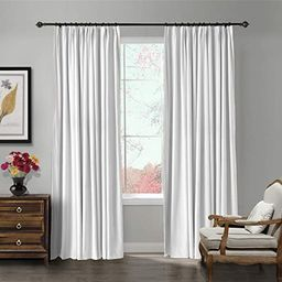 ChadMade Pinch Pleat 72W x 84L Blackout Lined Velvet Curtain Drapery Panel for Traverse Rod or Tr... | Amazon (US)