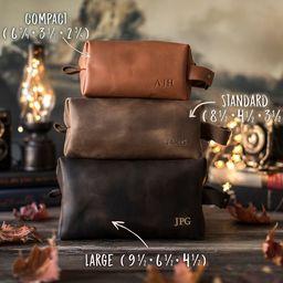 Leather dopp kit, Personalized groomsmen gift, leather dopp kit, mens leather toiletry bag, mens ... | Etsy (US)