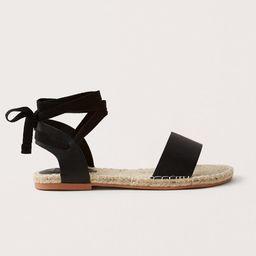 Lace-Up Espadrille Sandals | Abercrombie & Fitch (US)