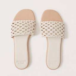 Woven Slide Sandals | Abercrombie & Fitch (US)