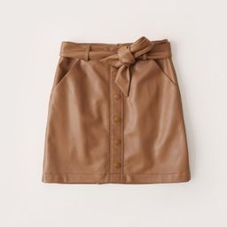Vegan Leather Belted Mini Skirt | Abercrombie & Fitch (US)