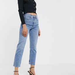 Topshop Editor straight leg jeans in bleach wash | ASOS (Global)