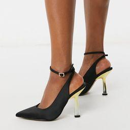ASOS DESIGN Protector high heeled shoes in black | ASOS (Global)