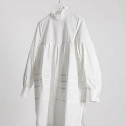 Only Maja high neck smock dress in white | ASOS (Global)