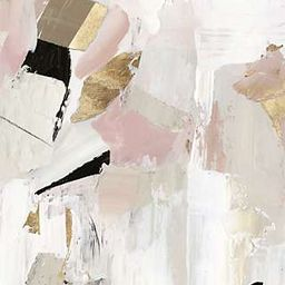 John Lewis & Partners - Black Rose Gold I Canvas Print, 80 x 60cm, Pink/Multi | John Lewis UK