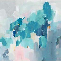 Valeria Mravyan - Bolded Canvas Print, 90 x 90cm, Turquoise | John Lewis UK