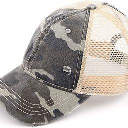 Women's Adjustable Athletic Trucker Hat Mesh Baseball Cap Dad Hat | Amazon (US)