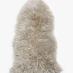 John Lewis & Partners Single Sheepskin Rug, Grey   John Lewis UK