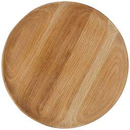 John Lewis & Partners Soft Oak Wood Round Tray, Small, Dia.30cm | John Lewis UK