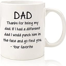 Thanks For Being My Dad Funny Coffee Mug - Best Fathers Day Gifts for Dad - Unique Gag Dad Gifts ...   Amazon (US)