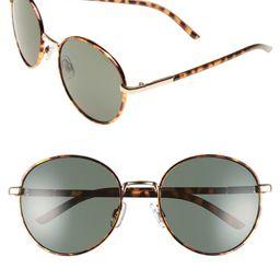 55mm Round Sunglasses | Nordstrom