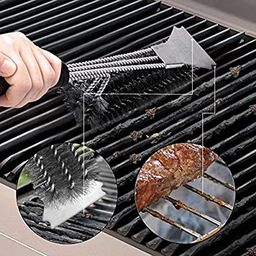"""Grill Brush and Scraper - Extra Strong BBQ Cleaner Accessories - Safe Wire Bristles 18""""Stainless ...   Amazon (US)"""