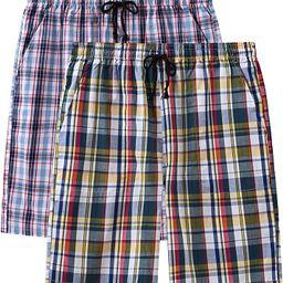 Men's Pajama Shorts Cotton Sleep Short Pockets Sleep Bottoms Plaid Lounge Shorts   Amazon (US)