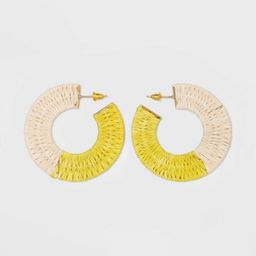 Color Blocked Woven Hoop Earrings - A New Day™   Target