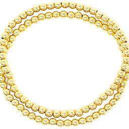 Women Teen Fashion Silver Gold Clear Rhinestone Stainless Steel Bead Ball Stretchable Elastic Bra... | Amazon (US)