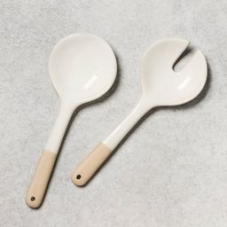 2pc Stoneware Salad Tongs - Hearth & Hand™ with Magnolia | Target