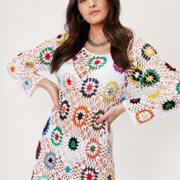 Bright of Way Multicolored Crochet Dress | NastyGal (US & CA)