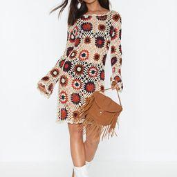 No Way Crochet Patterned Mini Dress | NastyGal (US & CA)