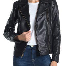 Cole HaanQuilted Lambskin Leather Moto Jacket | Nordstrom Rack